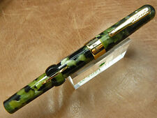 CONKLIN MARK TWAIN CRESCENT FOUNTAIN PEN VINTAGE GREEN 2017 MODEL FINE NIB