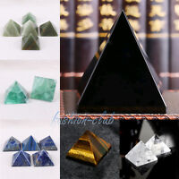 Natural Crystal Healing Wicca Spirituality Chakra Polish Pyramid Point Gem Stone