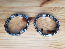 TWO Mens Womens Powerful Magnetic Hematite Jewelry Bracelet Anklet