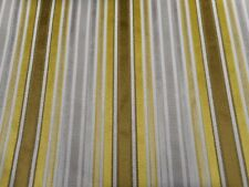 Zoffany Upholstery Fabric Brook Street 0.5m Citrus Velvet Stripe Design 50cm