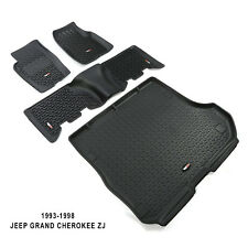 1993-1998 Jeep Grand Cherokee ZJ Floor Liner Kit BLACK Rugged Ridge 12988.31