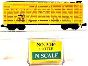 """N Model Power 3446 40ft Cattle Car """"The Katy"""" MKT LNIB"""