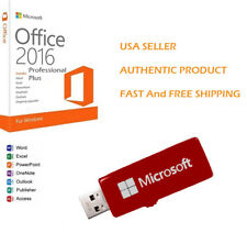 Microsoft Office 2016 Professional Plus 32/64 Bit Full Retail USB Flash