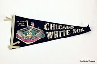 Vintage MLB Chicago White Sox Full Size Felt Pennant 12 x 30 Inches Rare