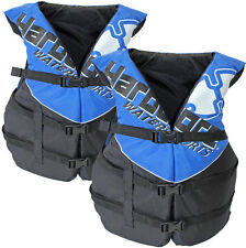 2 Pack Hardcore Adult Life Jacket PFD Type III Coast Guard Ski Vest Blue HC110B