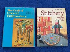 Vintage Crewel Embroidery Books