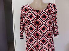 Jacqui E Shift Geometric Dresses for Women