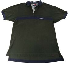 New listing M Vintage Tommy Hilfiger Polo Vtg Short Sleeve Green Blue Shirt Spell Out