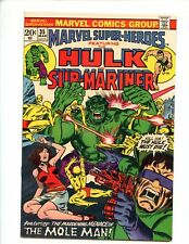 Marvel Super-Heroes #35 (1973) Hulk and Sub-Mariner Mole Man High Grade NM 9.4