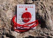 2 x ORIGINAL FAMILY SET KABBALAH RED STRING PROTECTION EVIL EYE+BEN PORAT PRAYER
