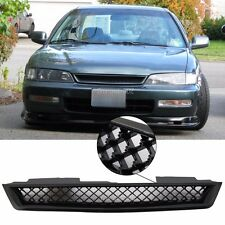 Fit for 94-97 Honda Accord Type R Style Black ABS Front Hood Mesh Grills Grille
