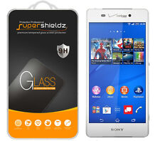 2X Supershieldz Tempered Glass Screen Protector Saver Shield For Sony Xperia Z3v