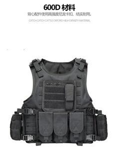New type Black Combat Tactical Soft Bullet proof vest IIIA NIJ0101.06 SIZE:L,XL