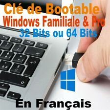 Clé USB bootable installation de Windows 10, 32 bits ou 64 bits en Français