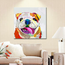 Hand Painted Oil Painting Wall Modern Art On Canvas Abstract Dog Animal Painting