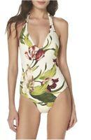 NWT $158 Robin Piccone Moana Hawaiian Floral One Piece Swimsuit Sz 6 (XS-S) NEW