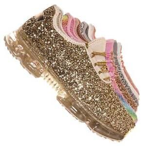 Flow28 Glitter Sneaker w Lucite Clear Outsole