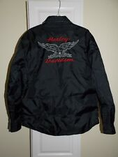 Harley Davidson Nylon Reversible Eagle Touring Jacket 97420-06VM Mens Small S