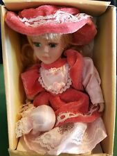 Irish Souvenir Porcelain Doll Girl In Pink Dress New in Box