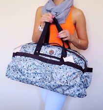 NWT Lululemon Yoga On The Fly Duffel Bag Not So Petite Fleur Silver Spoon