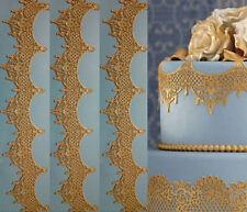 105 CM 3 LARGE EDIBLE sugar laces Anniversary cake Baby Shower Birthday wedding