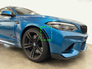 2015 - 2021 BMW F87 M2 CS M2 Front Bumper Reflector Overlay BLACK OUT