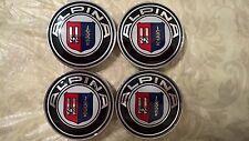 NEW Design laquer Alpina BMW 68mm Logo Emblem Badge Hub Wheel Rim Center Cap 4pc