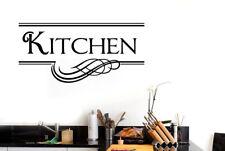 Kitchen Underlined Motif Vinilo Pegatinas De Pared Adhesivo Decoración