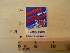 STICKER,DECAL ASSEN IJSSPEEDWAY  FINALE WK 1985 HOLLAND A