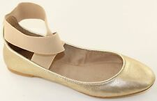 Charles David Runaround II Womens Gold Leather Ballet Flats Size 6.5 M Shoes NWD