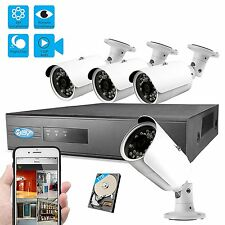 BV 960P 8CH 1TB IP NVR Security Surveillance System+1.3MP PoE Bullet Cameras-A