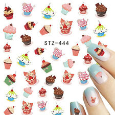 NAIL ART WATER TRANSFER STICKER CUTE CUPCAKE SWEET CANDY NAIL ART STICKER STZ444