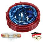 Car Amplifier Wire Wiring Set Car Audio Sub Amp Power Cable Kit 1500w 10ga
