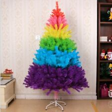5ft 6ft Christmas Tree Undecorated Rainbow Colorful Christmas Tree