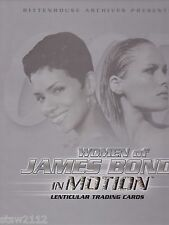 JAMES BOND WOMEN OF IN MOTION MASTER SET AUTOGRAPHS INSERTS PROMO CASE TOPPERS++