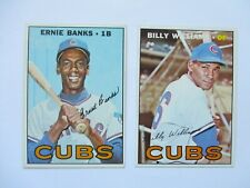 1967 Topps #215 & #315 E. Banks,  B. Williams  NM-MT+