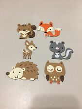 """2.5"""" Each Woodland Creatures Animals Set - Baby Shower or Birthday Party"""