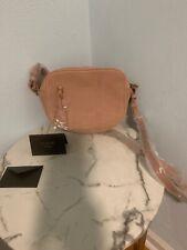 NWT J Crew Signet Bag Suede Crossbody Purse J.Crew Pink Leather RSE