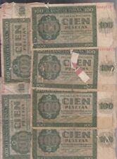 EDIFIL 421a. 100 PTAS 21 DE NOVIEMBRE DE 1936. LOTE DE 6 BILLETES.