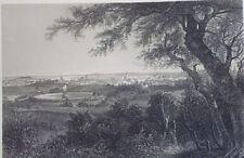 CITY OF PROVIDENCE (RI) 1872 Steel Engraving Print