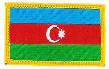 FLAG PATCH PATCHES Azerbaijan  IRON ON COUNTRY EMBROIDERED WORLD SMALL
