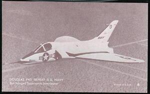 US NAVY DOUGLAS F4D SKYRAY Bat-Winged Aircraft Vintage Arcade Exhibit Card #6