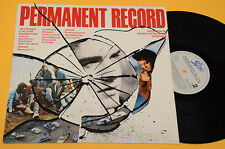 JOE STRUMMER LOU REED STRANGERS..LP PERMANENT RECORD ORIG SOUNDTRACK 1988 EX