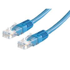 10x patch UTP CAT6 Bleu Cordon 0,25 m Câble de réseau réseau ethernet RJ45 25cm plomb