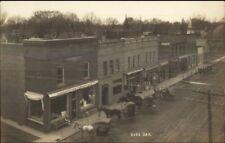 Burr Oak Street Scene - Michigan c1910 Real Photo Postcard
