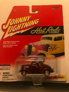1/64 JOHNNY LIGHTNING HOT RODS 1937 FORD COUPE NICE