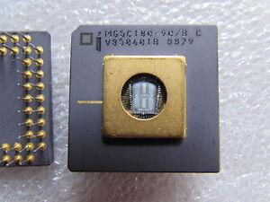 MG5C180-90/B INTEL Mil Spec CPU 68-Pin Ceramic Gold Collectible VINTAGE-IC CPU