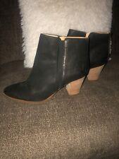Black Leather  Franco Sorto Booties Womens Size 12