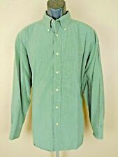 BANANA REPUBLIC Green Plaid Large Long Sleeve Shirt