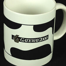 Gateway 2000 Coffee Cup Mug Cow Logo Advertising PC Computer Vintage 90s